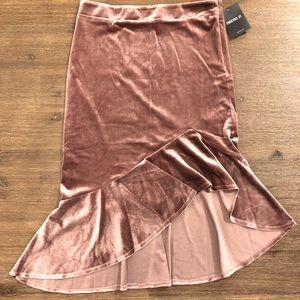 HOST PICK💖FOREVER 21 Rose Gold Asymmetrical Skirt